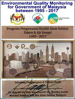 Environmental Quality Monitoring for Goverment of Malaysia between 1995 - 2017